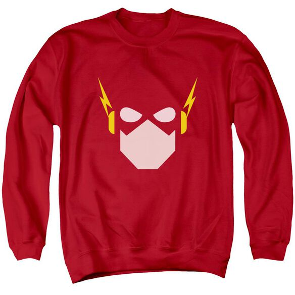 Jla Flash Head Adult Crewneck Sweatshirt
