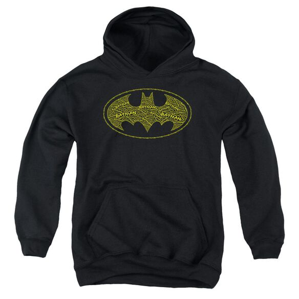 Batman Type Logo Youth Pull Over Hoodie