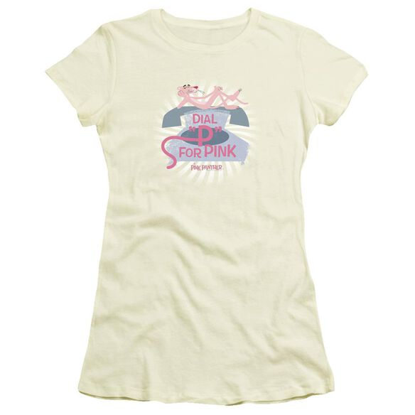 Pink Panther Dial P For Pink Short Sleeve Junior Sheer T-Shirt
