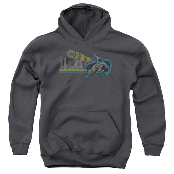 Dc Gotham Retro Youth Pull Over Hoodie
