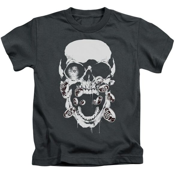 Green Lantern Black Lantern Skull Short Sleeve Juvenile Charcoal T-Shirt
