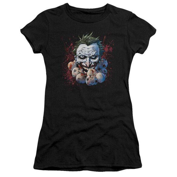 Jla Doll Heads Short Sleeve Junior Sheer T-Shirt