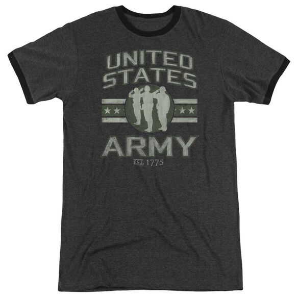 Army United States Army Adult Heather Ringer Charcoal