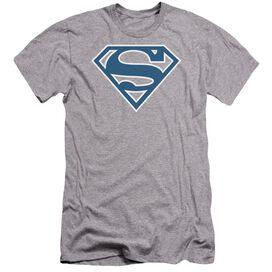 Superman Blue & White Shield Premuim Canvas Adult Slim Fit Athletic