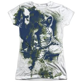 Arrow Spray Paint Short Sleeve Junior Poly Crew T-Shirt