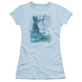 Wildlife Leaping Sailfish Short Sleeve Junior Sheer Light T-Shirt
