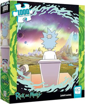 USAOPOLY Rick and Morty Shy Pooper 1000 Piece Jigsaw Puzzle