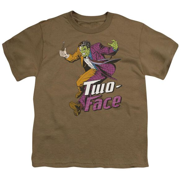 Dc Two Face Short Sleeve Youth Safari T-Shirt