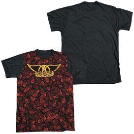 Aerosmith Vacation Short Sleeve Adult Front Black Back T-Shirt