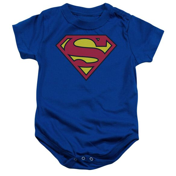 Superman Classic Logo Infant Snapsuit Royal Sm