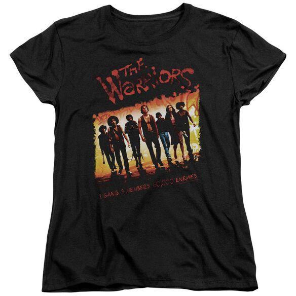 Warriors One Gang Short Sleeve Womens Tee Black T-Shirt