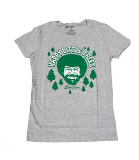 Bob Ross Happy Little Trees Women's Junior T-Shirt