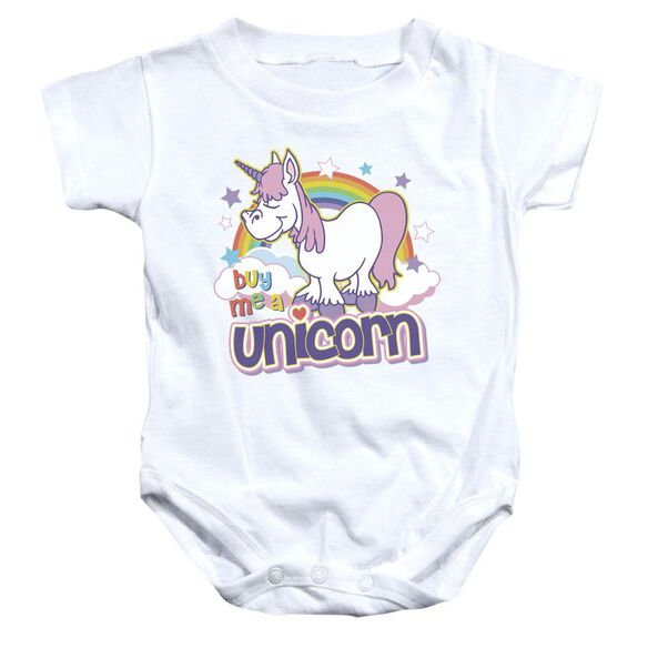 Buy Me A Unicorn Infant Snapsuit White Md