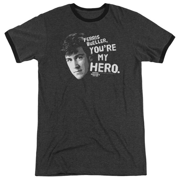 Ferris Bueller My Hero Adult Heather Ringer Charcoal