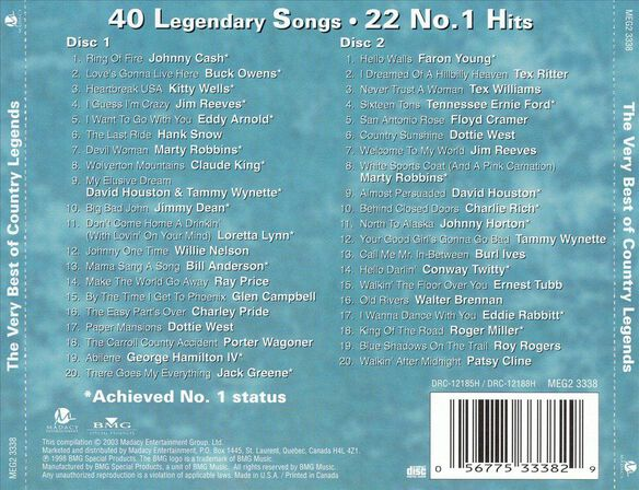 Best Of Country Lgnd(2 Cd)