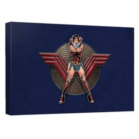 Wonder Woman Movie Warrior Emblem Canvas Wall Art With Back Board