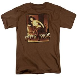 BETTIE PAGE OVER EXPOSED - S/S ADULT 18/1 - COFFEE T-Shirt