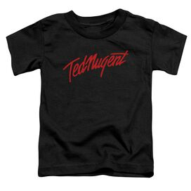 Ted Nugent Distress Logo Short Sleeve Toddler Tee Black T-Shirt