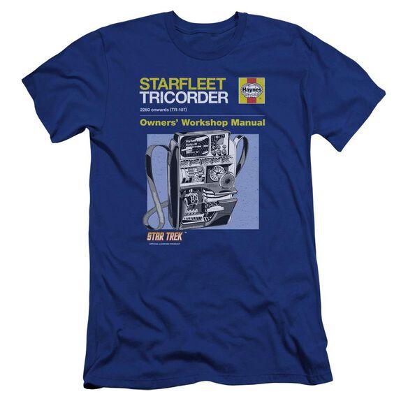 Star Trek Tricorder Manual Premuim Canvas Adult Slim Fit Royal