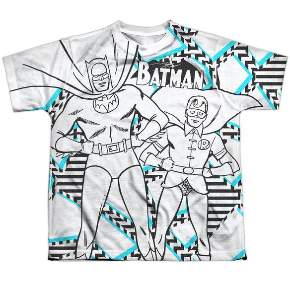 Batman Gaudy Bat Short Sleeve Youth Poly Crew T-Shirt