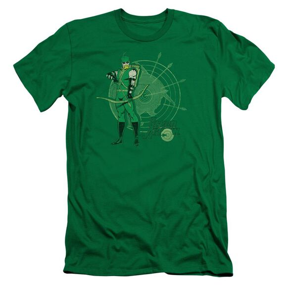 Dc Arrow Target Short Sleeve Adult Kelly T-Shirt