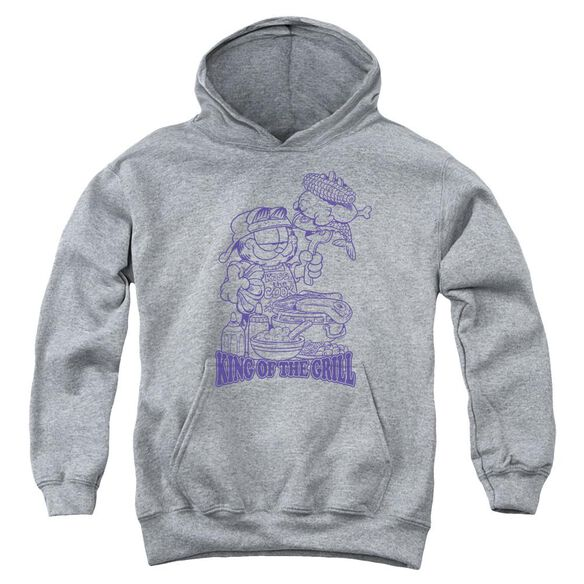 Garfield King Of The Grill Youth Pull Over Hoodie