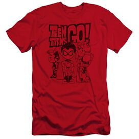 Teen Titans Go Team Up Hbo Short Sleeve Adult T-Shirt