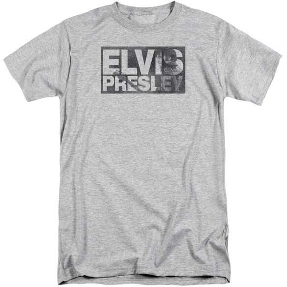 Elvis Block Letters Short Sleeve Adult Tall Athletic T-Shirt