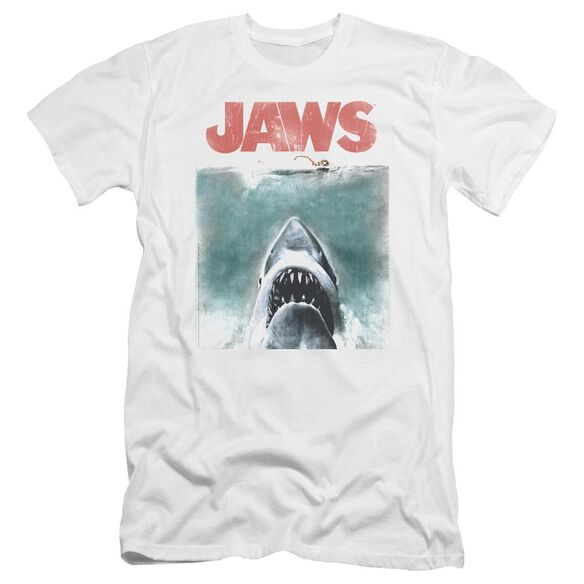 Jaws Vintage Poster Premuim Canvas Adult Slim Fit