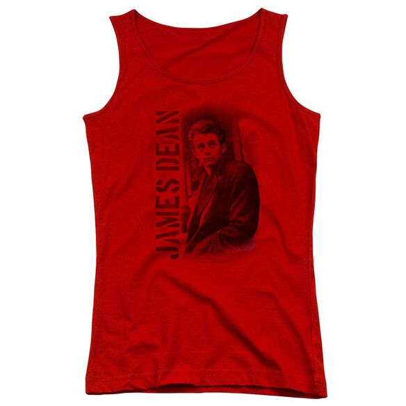 Dean Trenchcoat - Juniors Tank Top - Red