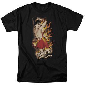 BETTIE PAGE DEVIL TATTOO - S/S ADULT 18/1 - BLACK T-Shirt