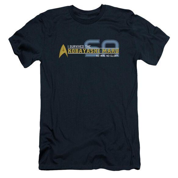 STAR TREK I SURVIVED - S/S ADULT 30/1 - NAVY T-Shirt