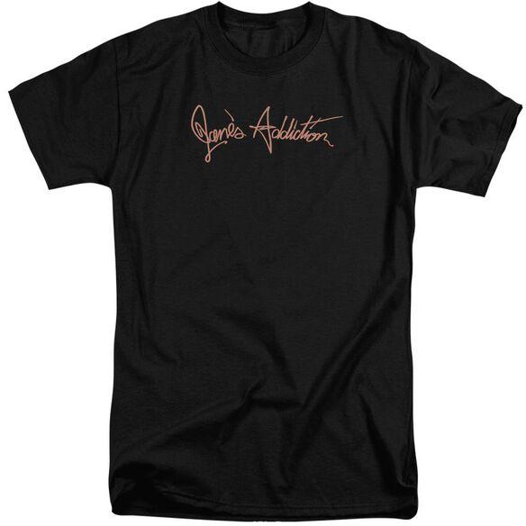 Janes Addiction Script Logo Short Sleeve Adult Tall T-Shirt