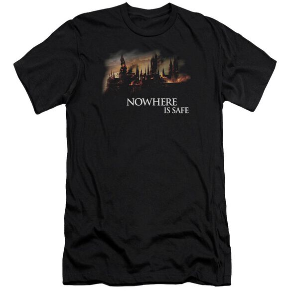 Harry Potter Burning Hogwarts Hbo Short Sleeve Adult T-Shirt