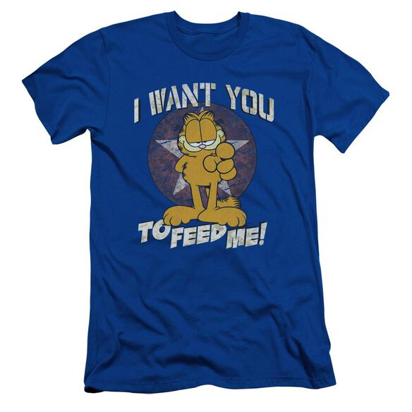 GARFIELD I WANT YOU - S/S ADULT 30/1 - ROYAL BLUE T-Shirt