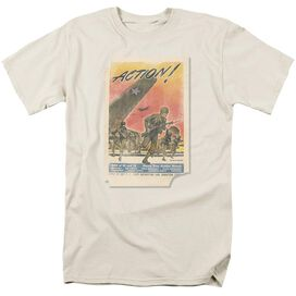 Army Action Poster Short Sleeve Adult Cream T-Shirt