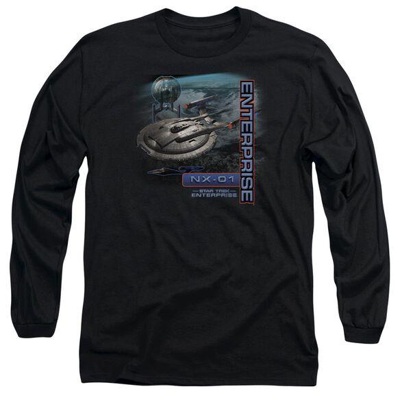 Star Trek Enterprise Nx 01 Long Sleeve Adult T-Shirt