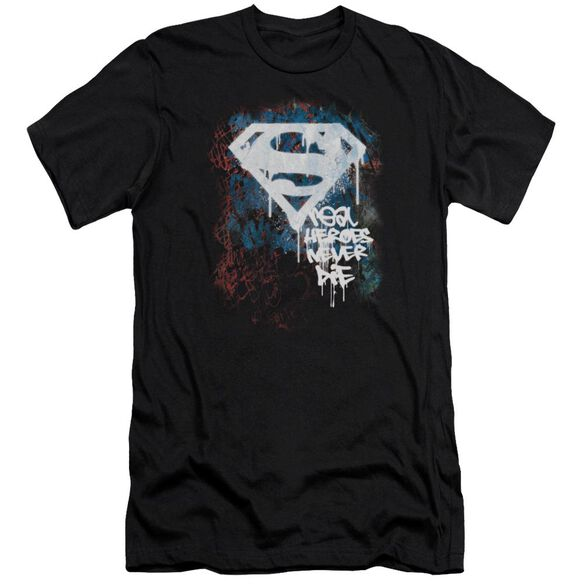 Superman Real Heroes Never Die Premuim Canvas Adult Slim Fit