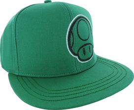 Mario 1up Mushroom All Green Snapback Hat