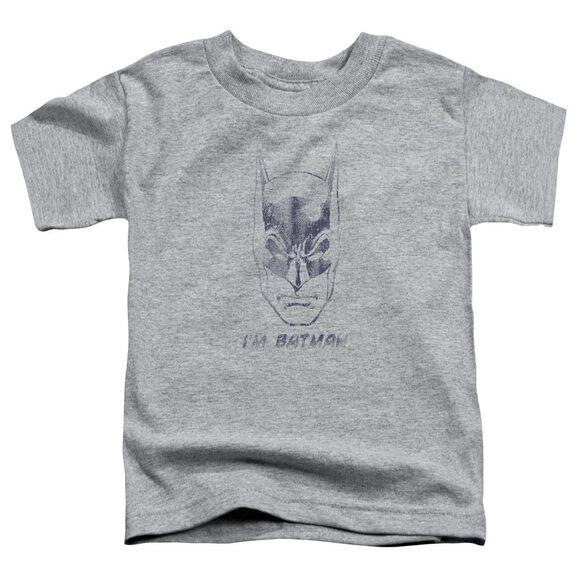 Batman I'm Batman Short Sleeve Toddler Tee Athletic Heather T-Shirt