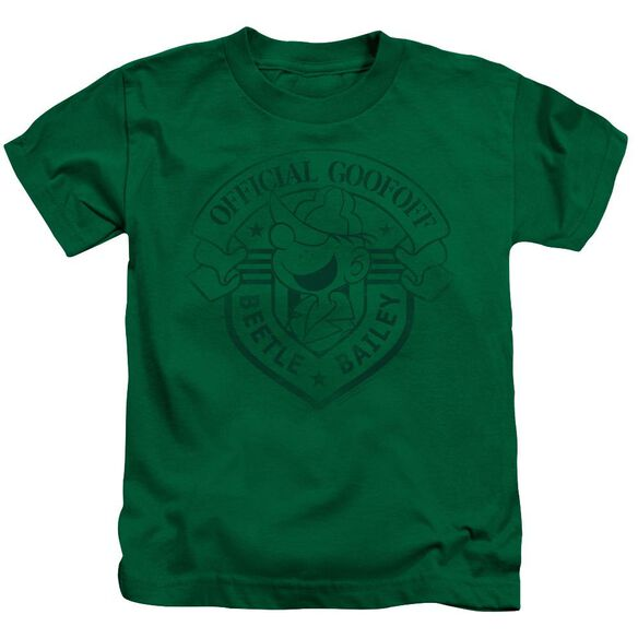 Beetle Bailey Official Badge Short Sleeve Juvenile Kelly T-Shirt