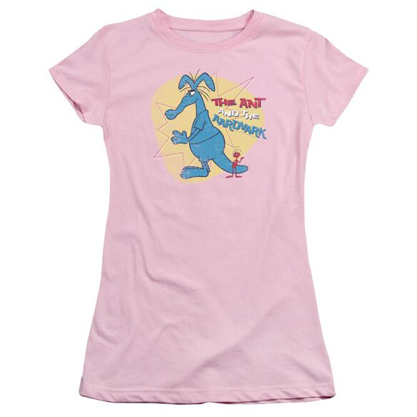Panther Ant And Aardvark Short Sleeve Junior Sheer T-Shirt