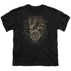 Sun Scroll Around Rooster Short Sleeve Youth T-Shirt