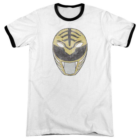 Power Rangers White Ranger Mask Adult Ringer White Black