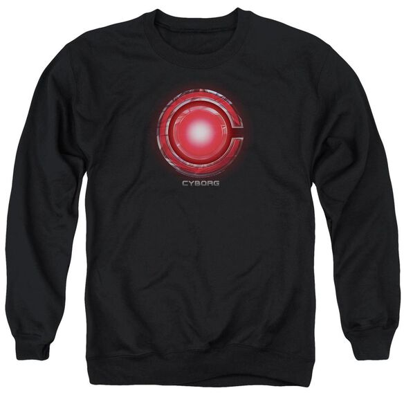 Justice League Movie Cyborg Logo Adult Crewneck Sweatshirt