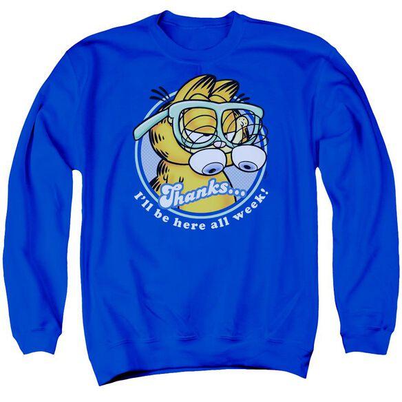Garfield Performing - Adult Crewneck Sweatshirt - Royal Blue