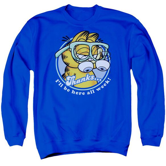 Garfield Performing Adult Crewneck Sweatshirt Royal