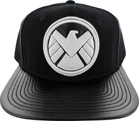 SHIELD Logo Faux Leather Visor Hat