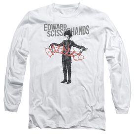 Edward Scissorhands Show & Tell Long Sleeve Adult T-Shirt