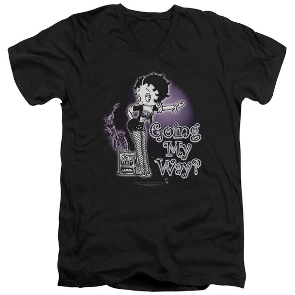 Betty Boop My Way Short Sleeve Adult V Neck T-Shirt